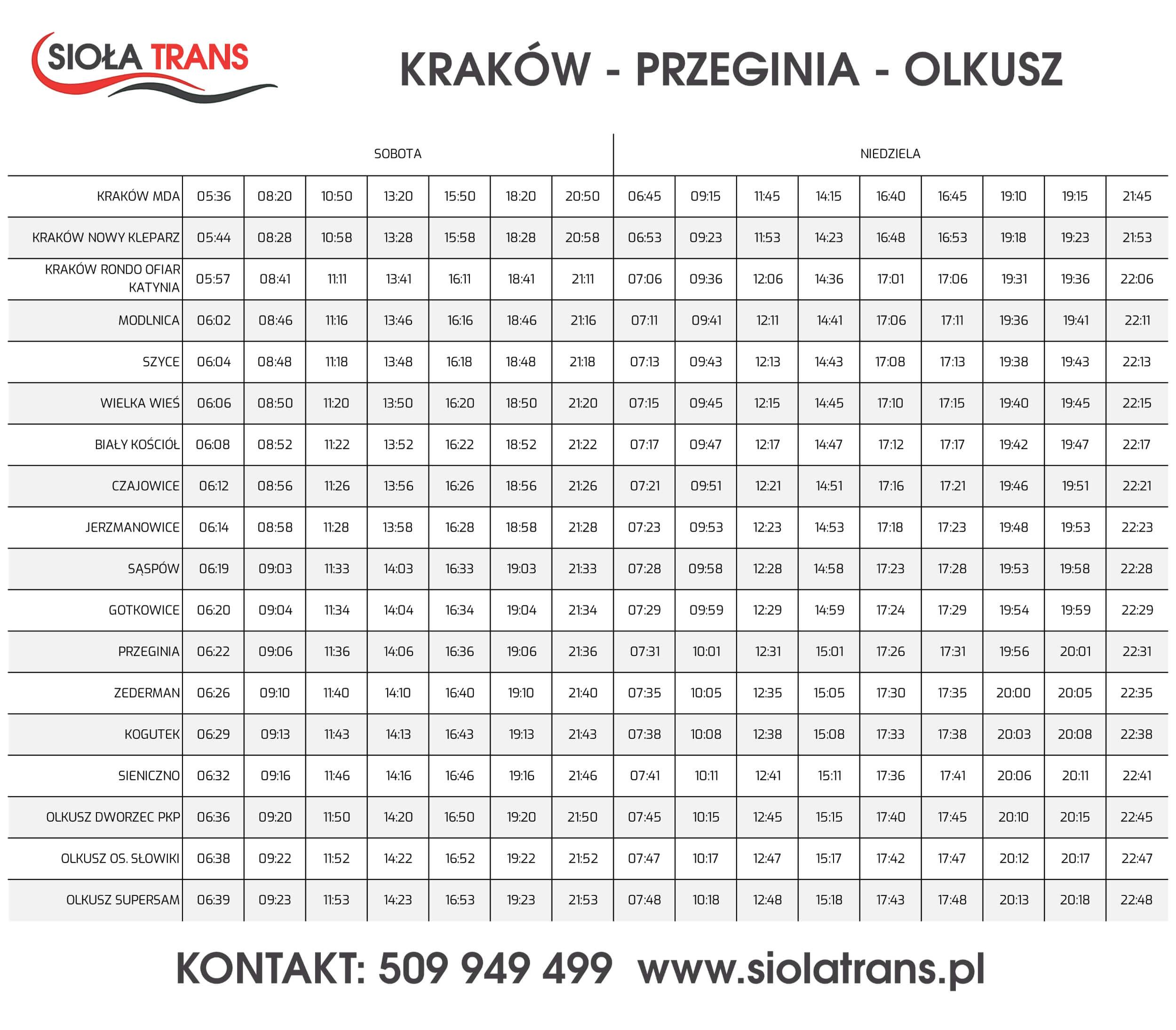 siola_trans_krakow_olkusz_wknd